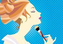 会化妆女人